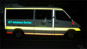 ACT Intensive Care Ambulance reflective livery-www.ambulancevisibility.com-John Killeen