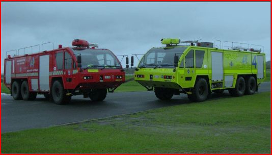 Airservices Australia (ARFF) Aviation Fire vehicle conspicuity comparison photos under airfield viewing conditions - Ambulance Visibility - www.ambulancevisibility.com