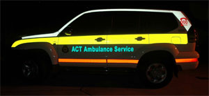 Reflective Markings Prado-www.ambulancevisibility.com-ACT Ambulance-John Killeen